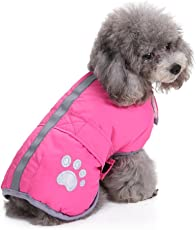 XiYunHan Chaqueta para Mascotas, Chaleco Forro De Algodón Velcro Engrosamiento Chaqueta Fría Invierno Cálido Perro Ropa 4 Colores Y 8 Tamaños (Color : Pink, Size : XL)