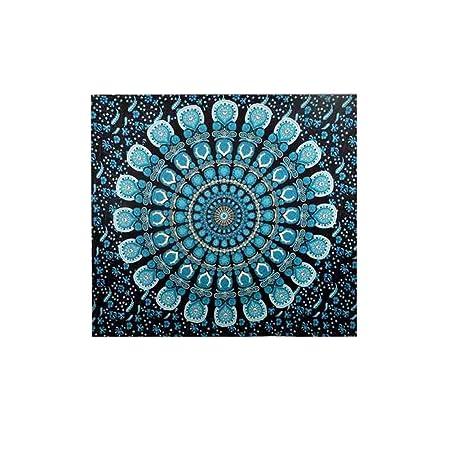 Indian Mandala Tapestry Impresión Verde Toallas de Playa ...
