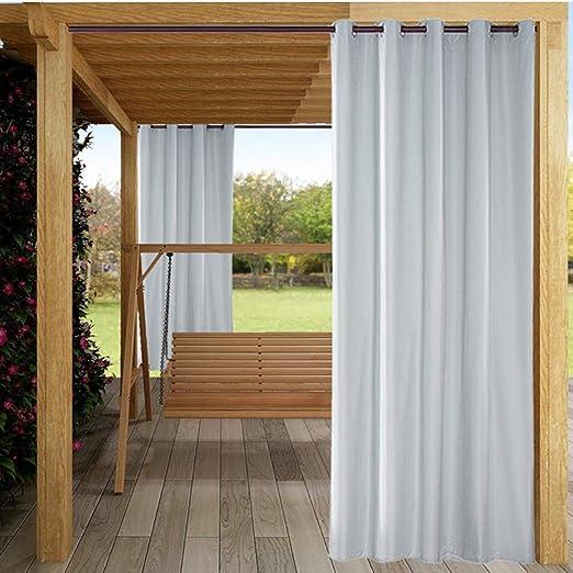 Cortinas opacas, aislamiento térmico sólido Ojal Cortinas/paneles/cortinas impermeables a prueba de sol para el patio del hogar Jardín: Amazon.es: Hogar