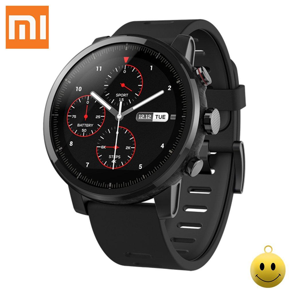 Xiaomi Huami Amazfit Sports Smartwatch Stratos 2 con GPS PPG Monitor de frecuencia cardíaca 5ATM impermeable Bluetooth play music Versión en inglés Negro xiaomi Tech