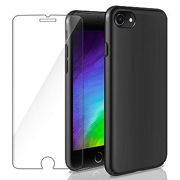 AROYI Funda Duro iPhone 7 / iPhone 8, Carcasa Protector Ultra-Delgado + Cristal Templado 9H Dureza 1 Pack Protector de Pantalla Shock-Absorción ...