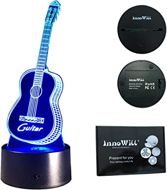 innowill Guitarra Regalos Bombilla LED 7 Colors: Amazon.es ...