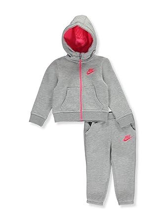 7e2b03a18c22 Nike Baby Girls  2-Piece Fleece Sweatsuit  Amazon.co.uk  Clothing