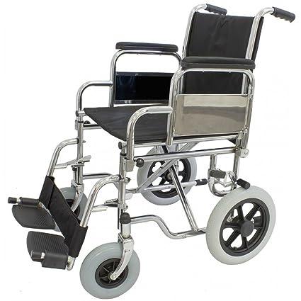 Silla de ruedas plegable rueda pequeña Ortaid: Amazon.es ...
