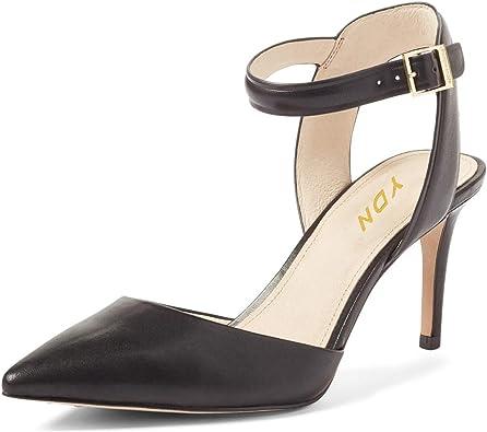 Ankle Strap Mid Heel Pumps