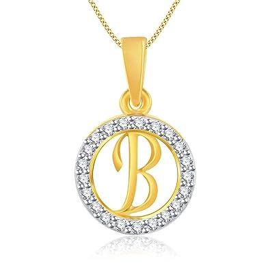 buy vidhi jewels gold plated stylish b alphabet alloy brass