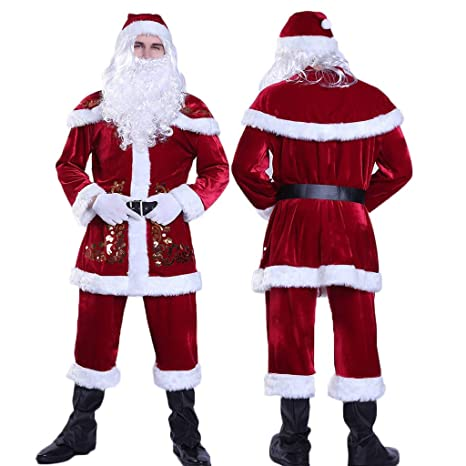 Kanlin1986 Disfraz De Papá Noel, Rojo, con Chaqueta ...