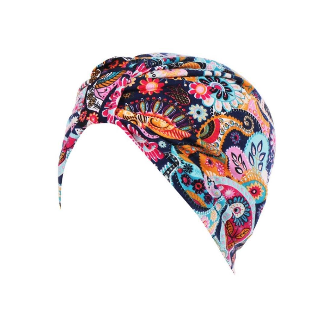 Ouneed Hijab Turban Chimio Femme Bonnet /Ét/é Mode Chic Hijab Bandana Bonnet A