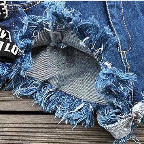 Fête Denim Mini Straps Bleu Ai Femmes Club Shorts Jeans Side moichien q0pUpxt