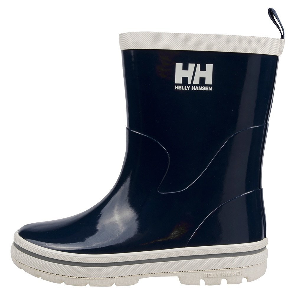 Helly Hansen JK Midsund Rain Boot (Toddler/Little Kid/Big Kid), Navy/Off White/Silver, 3 M US Little Kid