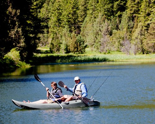 Lifetime 10 Foot, Two Person Tandem Fishing Kayak with Paddles