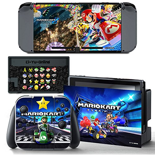 Price comparison product image Ci-Yu-Online VINYL SKIN [NS] Mario Kart 8 Deluxe STICKER DECAL COVER for Nintendo Switch Console and Joy-Con Controllers