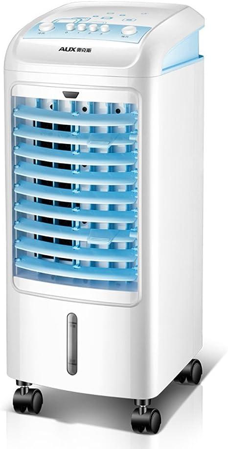 Mini ventilador torre giratorio Tanque agua extraíble 4 litros ...