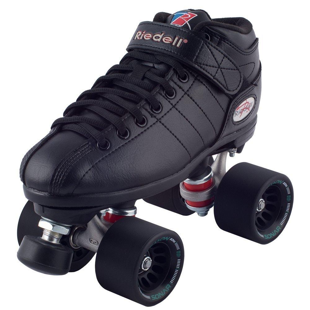 Riedell R3 Demon Roller Skates (Black Wheels, Size 5)