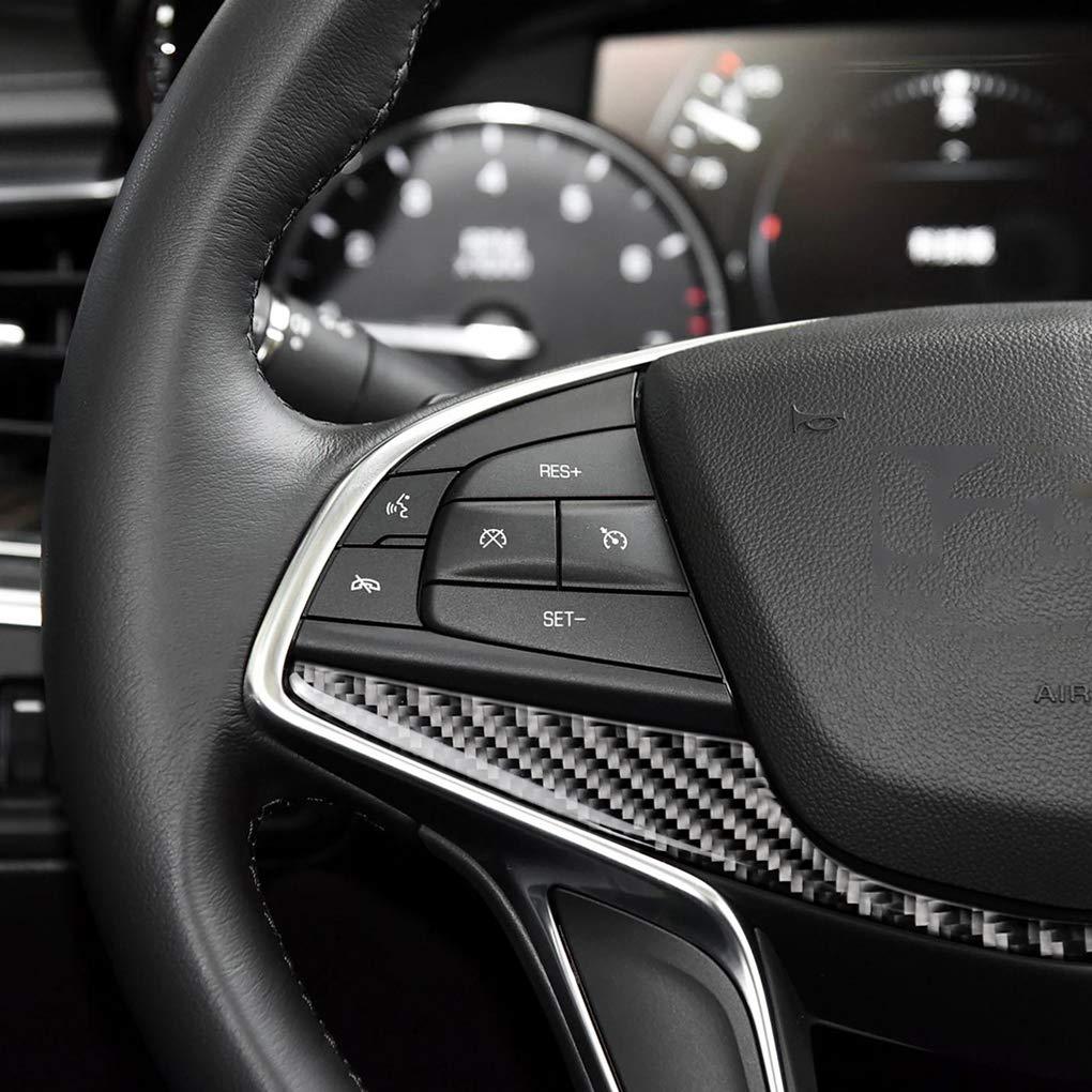 Deinbe Auto-Carbon-Faser-Lenkrad-Panel-Abdeckungs-Ordnung Ersatz f/ür Cadillac XT5 CT6 2016-2017