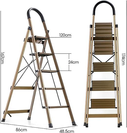 GWXSST Escalera Telescópica Escalera Plegable Escalera Multifuncional de ingeniería 3/4/5 Escalera de Tijera Aleación de Aluminio Engrosamiento Interior doméstico Escalera de extensión portátil: Amazon.es: Hogar