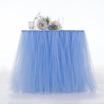 e995667b4 Mantel de mesa con tutú de tul de Hinmay, ideal para bodas, fiestas ...