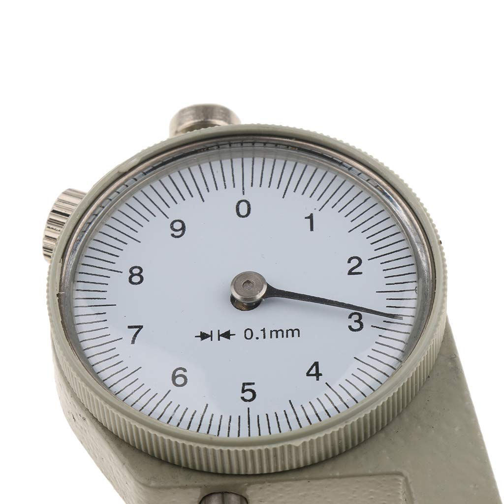 Portable Thickness Gauge Meter 0-10mm for Leather//Film//Metal Sheets Measure