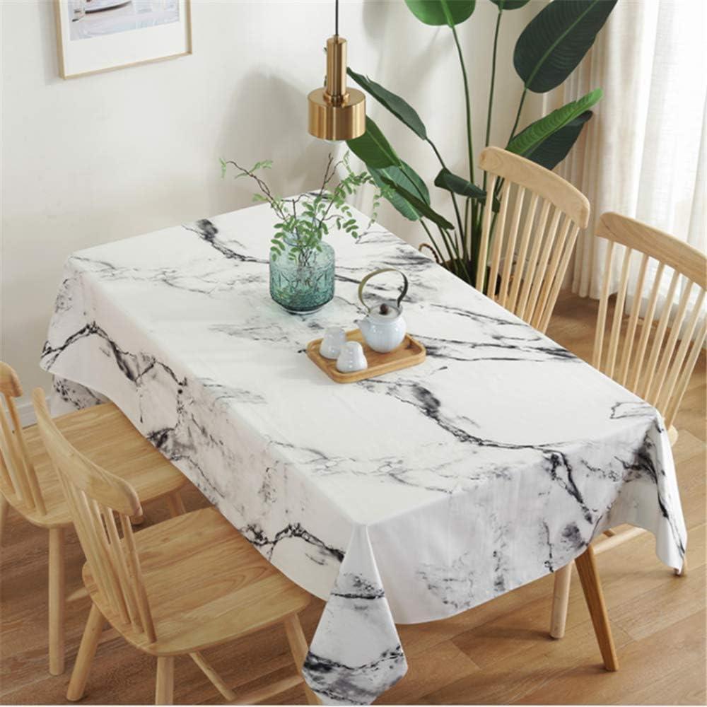 SONGHJ Manteles Sencillos de algodón marmoleado Rectángulo Engrosamiento de Tela Manteles a Prueba de Polvo Cubiertas de Mesa Boda Inicio A 140x260cm: Amazon.es: Hogar