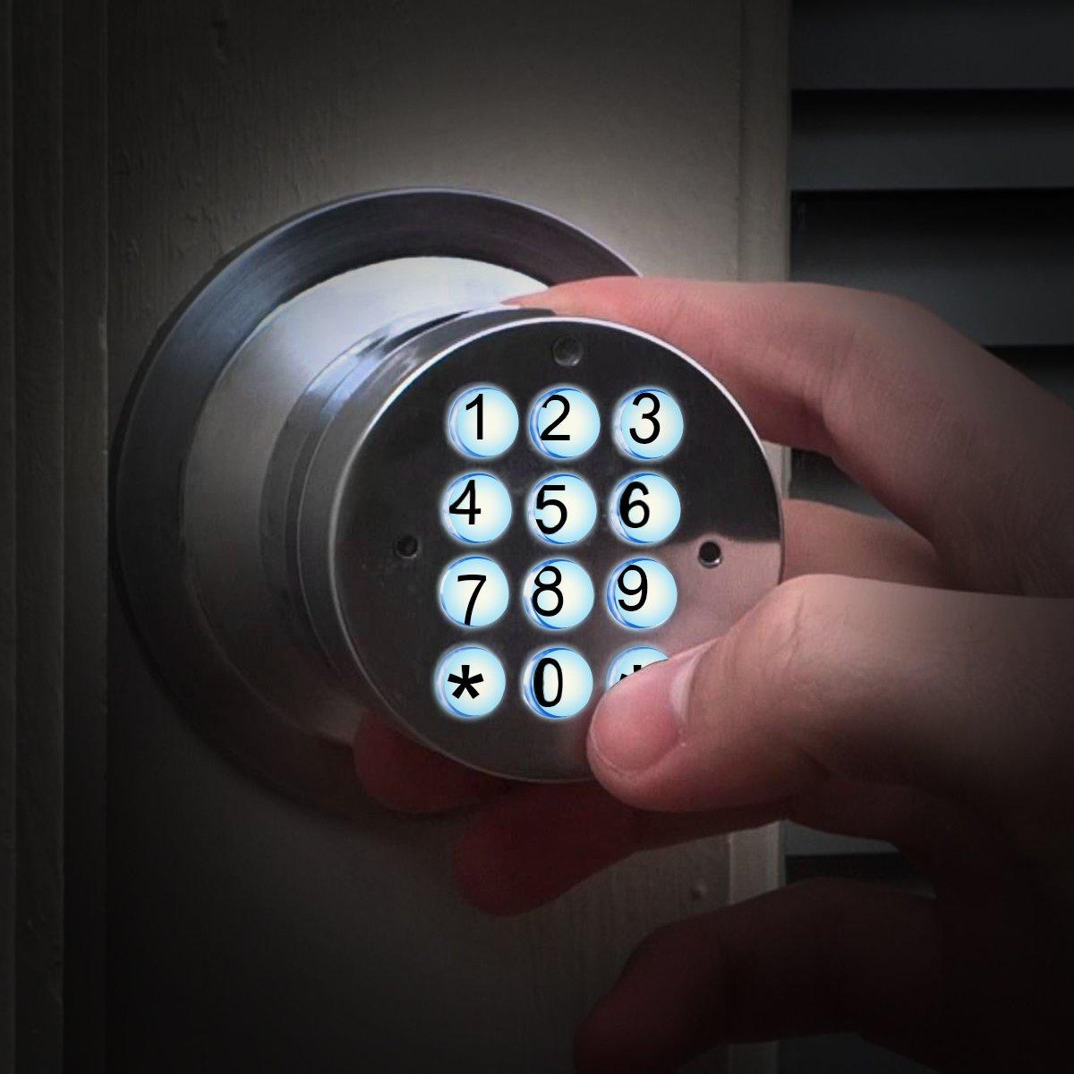 color plateado Signstek Digital de seguridad teclado electr/ónico Smart Lock Cerradura electr/ónica sin llave