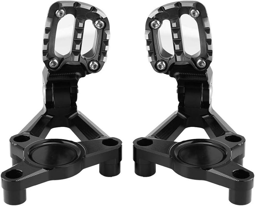 kit de pedales de reposapi/és del reposapi/és apto para X-ADV 750 17-19 Gorgeri Reposapi/és del reposapi/és del pasajero trasero de la motocicleta Titanio negro