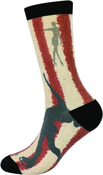 Enerwear 6P Pack Girls//Womens 3D Print Moisture Wicking Seamless Dress Socks