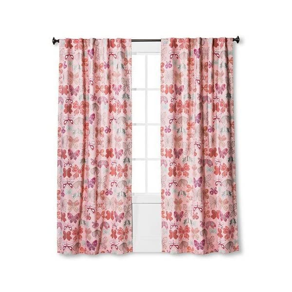 PillowfortTM-Butterfly-Print-Twill-Light-Blocking-Curtain-Panel