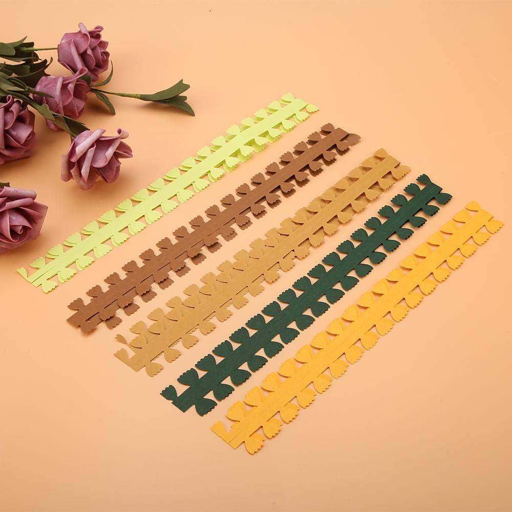 8# Farbe zuf/ällig Hilitand 5pcs Quilling Streifen DIY Blumen Design Bunte Papier Handwerk Quilling Streifen