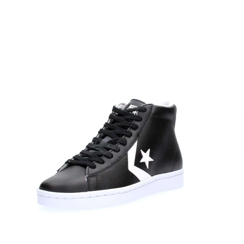 Amazon Converse 42 Sneakers 76 Mid Uomo Black Leather Pl 157717c 5 6pr6WgBv