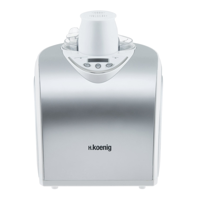 H.Koenig HF180 Macchina per Gelati e Sorbetti, 1L, Programmabile, Gelato pronto in 40min, Gruppo freddo integrato, Acciaio Inox, 135W 80115