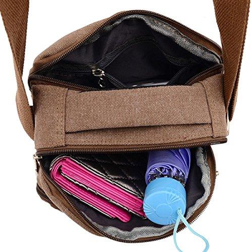 Travel Business Laidaye Leisure Bag Men's purpose Shoulder Beige Backpack Multi Messenger xgwgq6HTn8