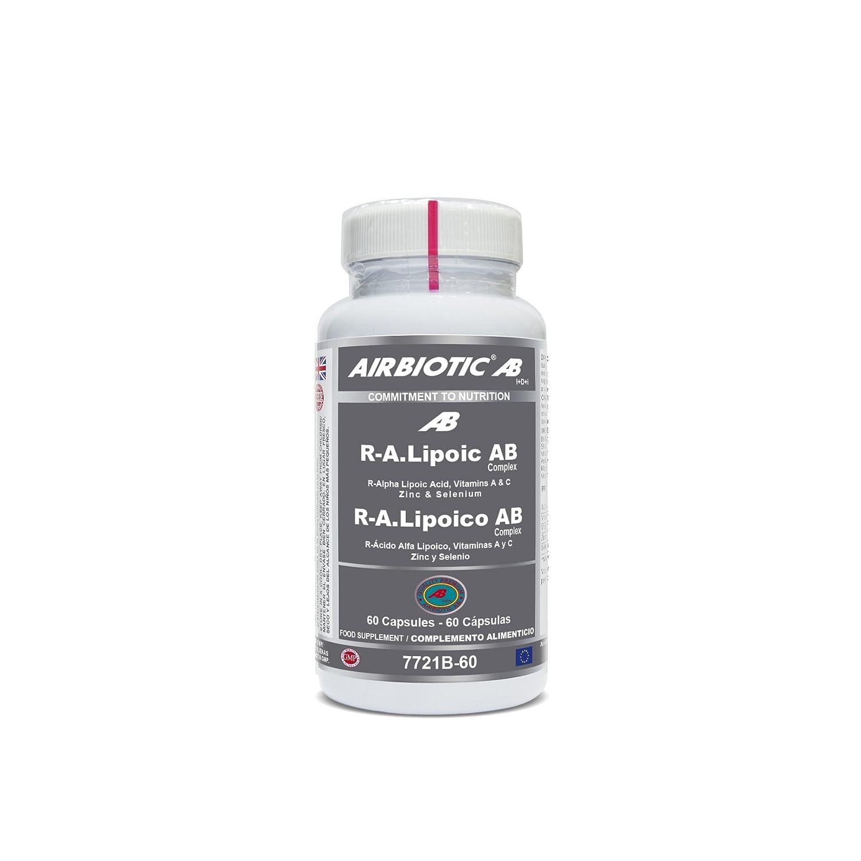 Airbiotic AB - R.A Lipoico AB Complex, Multinutrientes, Antioxidante para el Deporte, 60 cápsulas: Amazon.es: Salud y cuidado personal