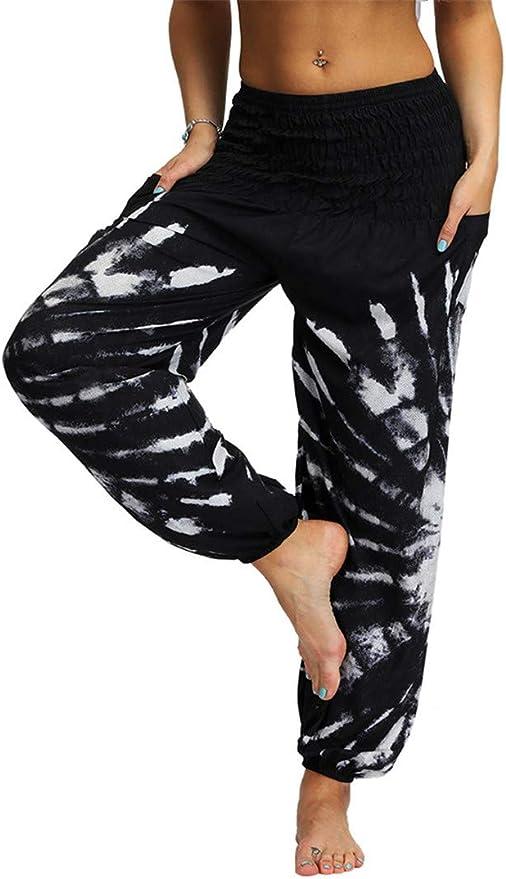 Women/'s Tie Dye Roll Waist Yoga Pants Grey Incense Colorway