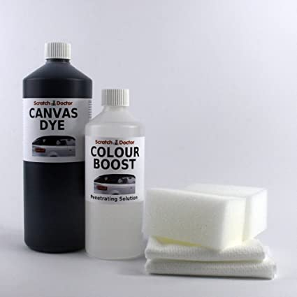 613be87c29f1 The Scratch Doctor Convertible Roof CANVAS DYE Kit with Colour Boost. Soft  Top Restorer (500ml BLACK)  Amazon.co.uk  Kitchen   Home