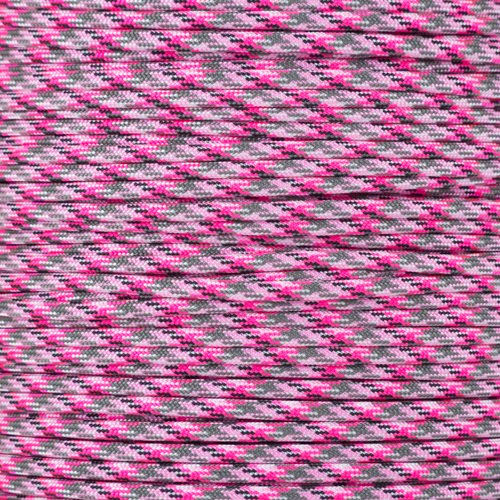 Paracord Planet USA Made 550 Type III Paracord, 100 Feet - Now Selling Over 200 Parachute Cord Colors! (Pretty in Pink (Grapevine Three Light)