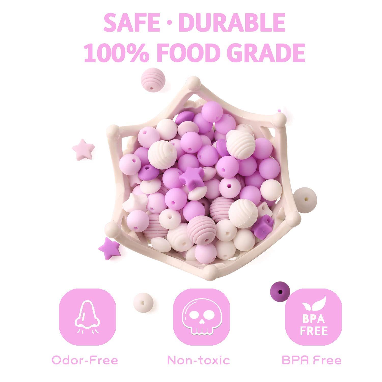Baby Tete Baby Silikon Perlen Zum Zahnen 100 Stück Lose Organische