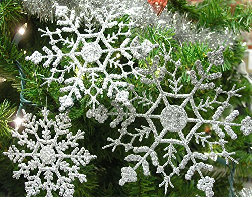 Review Silver Glitter Snowflakes –