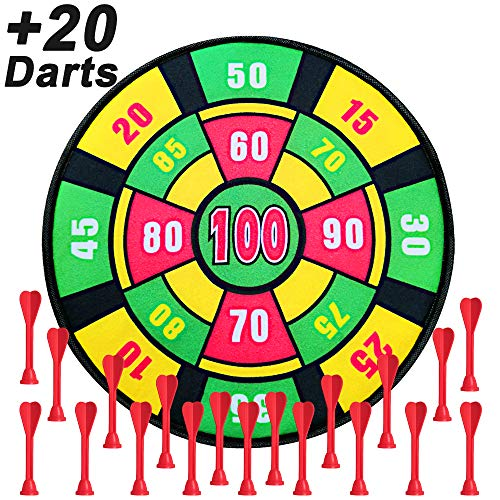 - Kids Dart Board Game with 20 Darts, 13.7 Inches (35 cm),Family Board Game for Boys and Girls Age 3 and Up,Dart Board Game for Kids