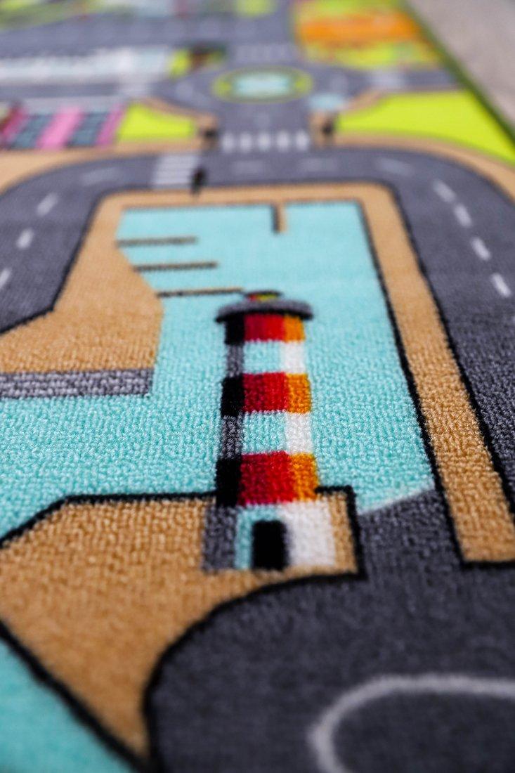 130 x 200 cm route circuit de voiture dans la ville TAPITOM Tapis de jeu pour enfant