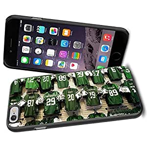 American Football NFL NEW YORK JETS Green UniForm, Cool iphone 6 plusd 5.5 Case Cover Collector iPhone TPU Rubber Case Black
