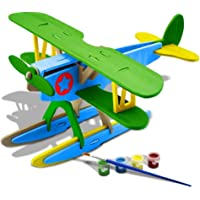 Homar 3D Wooden DIY Jigsaw Puzzle Handmade Assemble Animal Model Toys Kits with Painting Tools for Kids