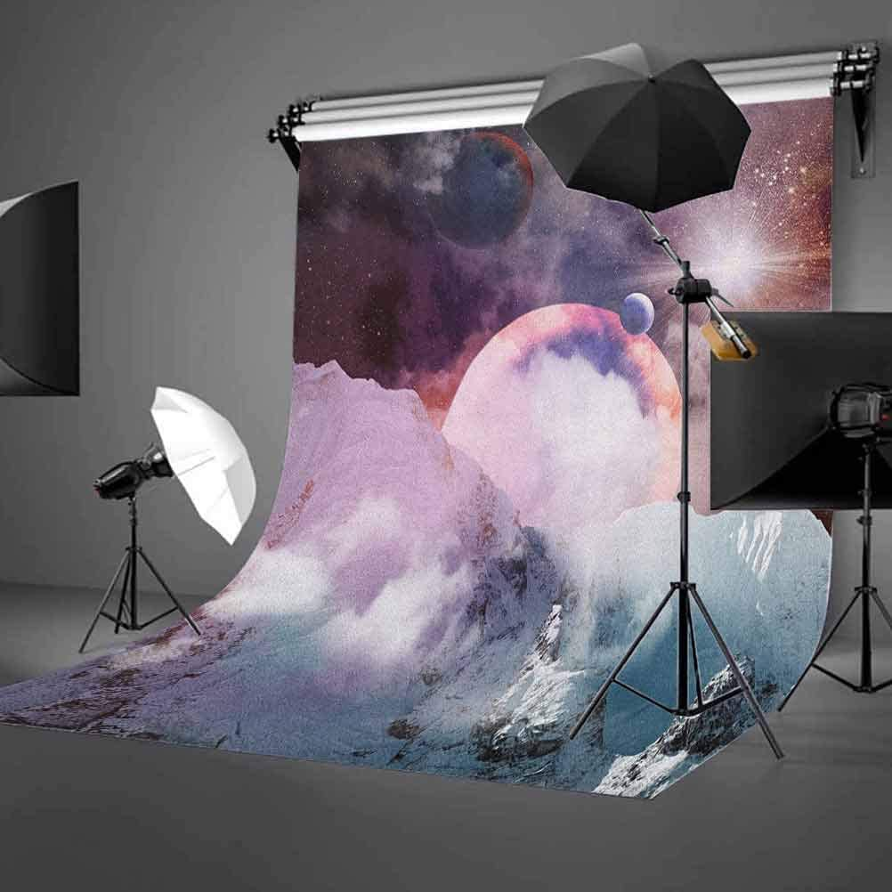 7x10 FT Animal Vinyl Photography Backdrop,Tiger Portrait Butterflies Roses Abstract Globes Colorful Sun Background Background for Baby Birthday Party Wedding Studio Props Photography