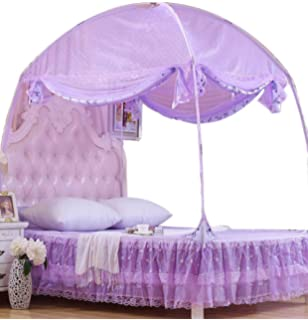 38 L x 74 W x 58 H White and Pink HearthSong/® Kids Fairy Tale Princess Twin Sized Bed Tent Canopy with Interior Hanging Chandelier LED Light