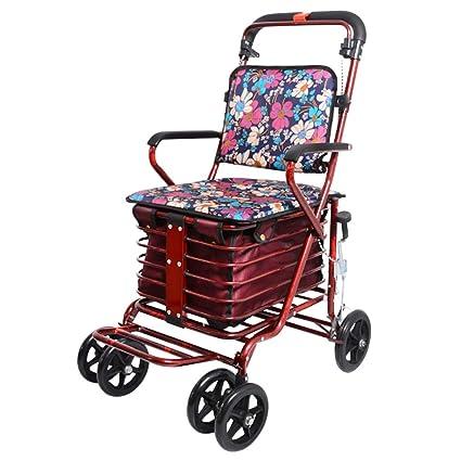 Shopping Trolley- Carrito de Compras de Cuatro Ruedas para Personas Mayores, un Andador con