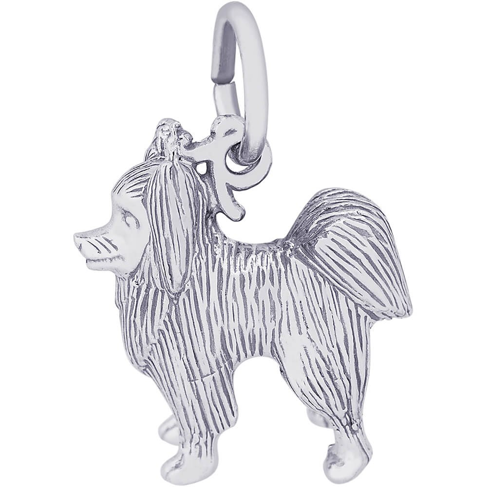 Rembrandt Charms 14K White Gold Papillon Charm (0.54 x 0.45 inches)