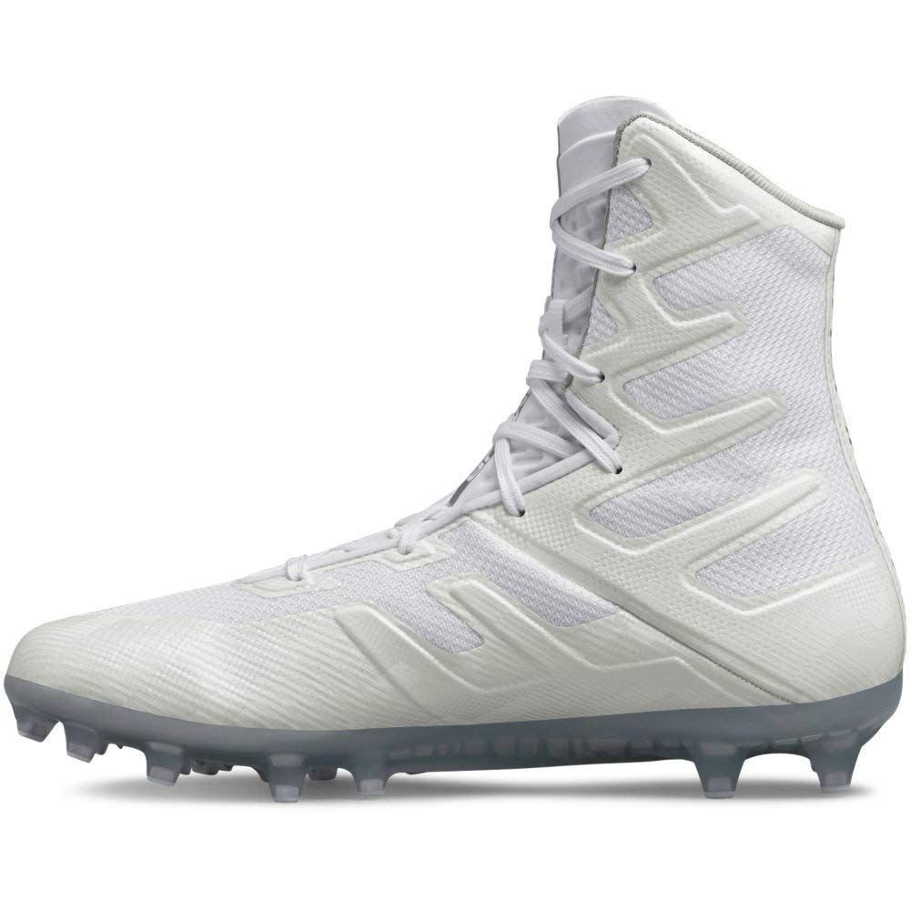 [アンダーアーマー] Men's Highlight Mc High-Top Mesh Football Shoe B077VLC2BT White (101)/White 15 M US 15 M US|White (101)/White