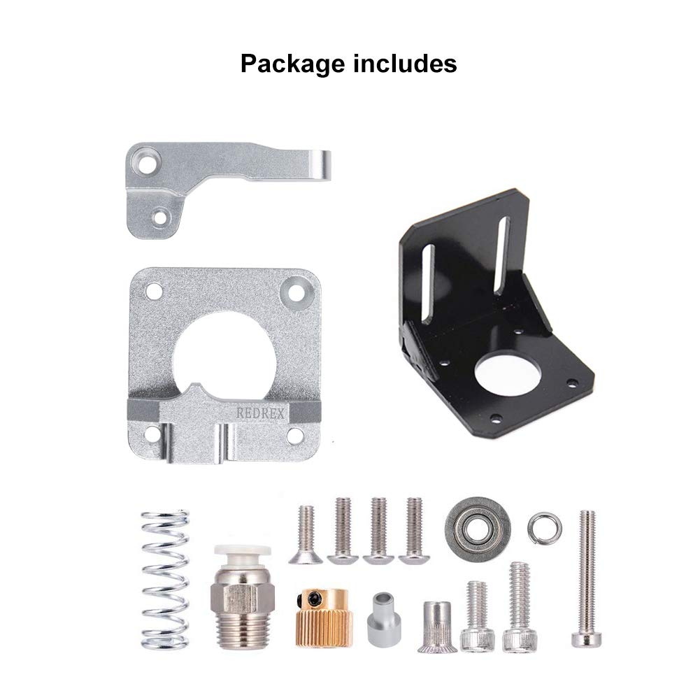 Redrex All Metal Bowden Extruder,Tension Adjustable,with Stepper Motor Bracket for Ender 3,Ender 5,CR10 series,Geeetech A10 ANET A8 and other Reprap DIY Prusa 3D Printers