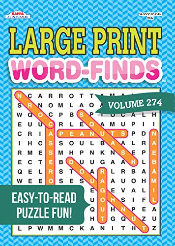 Large Print Word-Finds Puzzle Book-Word Search Volume 274