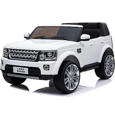 Mini Moto Land Rover Discovery 12V White (2.4Ghz Rc): Toys & Games