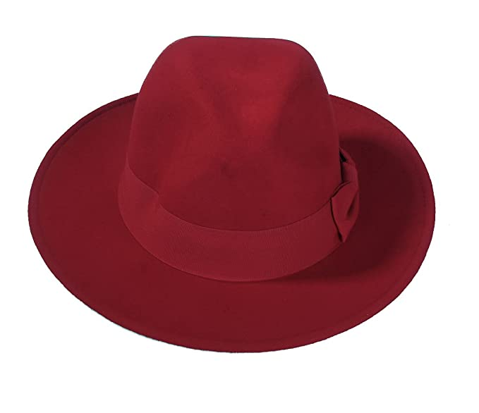 1940s Hats History Retro Fedora Hat Woolen Felt Hat Bowknot Jazz Cap for Women $19.98 AT vintagedancer.com